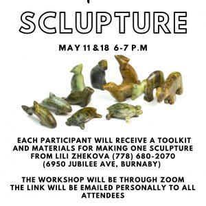 Online soapstone sculpture creating workshops